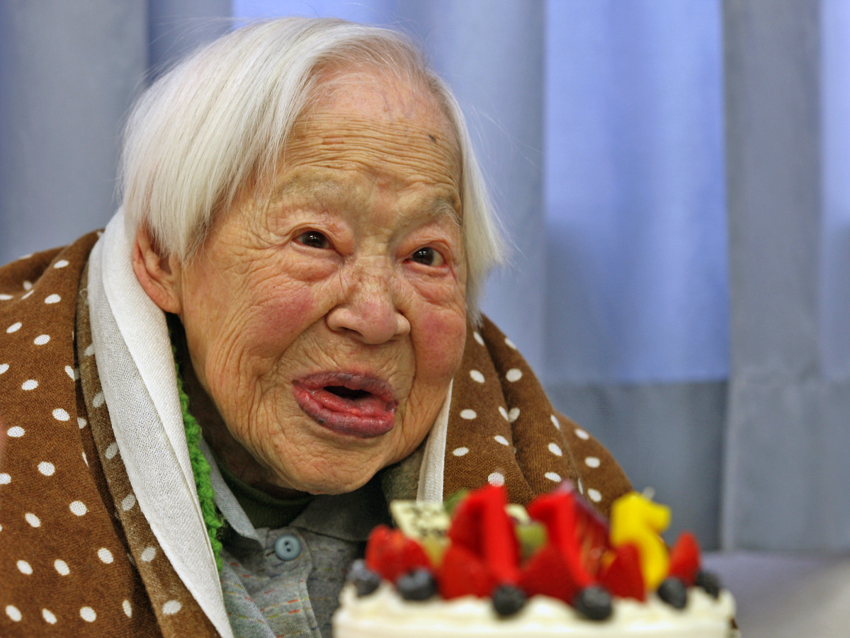 Misao Okawa at the Ripe old Age of 115